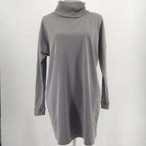 Lulus Dress Scheme of Things Long Sleeve Gray